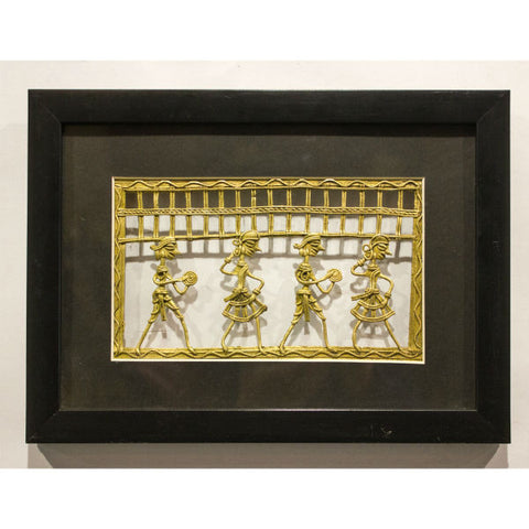 "Gold Color Metal Jaali 8X5 Frame""8X11"" - Giftingnation - 1"