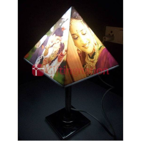 Personalised Pyramid Shape Photo Lamp - Giftingnation