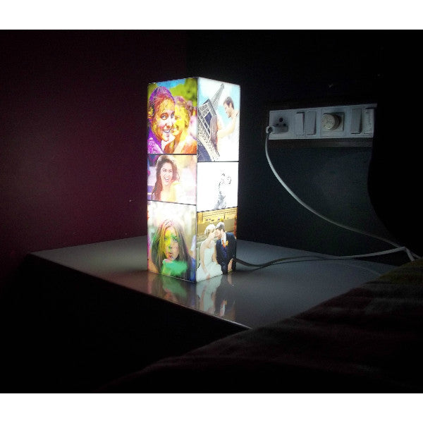Personalised Pillar Photo Lamp - Giftingnation - 1