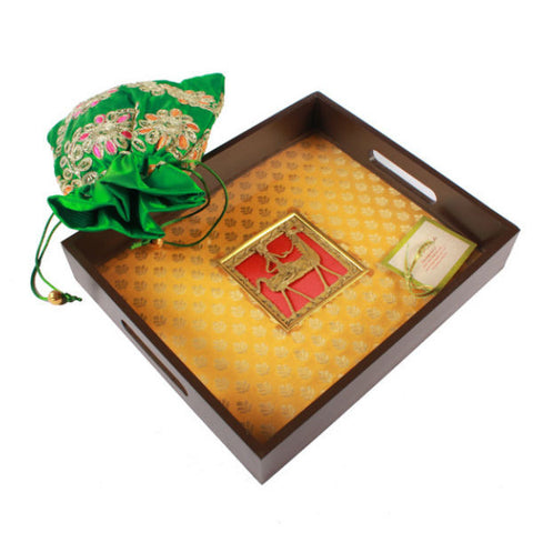 Fabric Lined Serving Tray - Giftingnation - 1