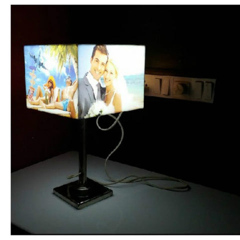 Personalised Rectangular Shaped Photo Lamp with Stand - Giftingnation