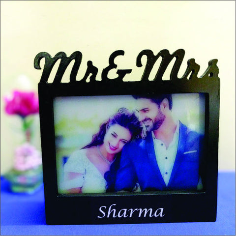 Mr & Mrs Photo Frame Lamp