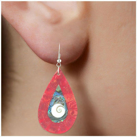 Modern Round Shell Earrings - Giftingnation - 2