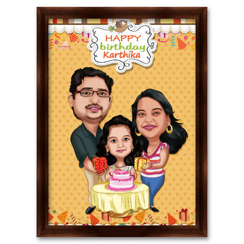 Family Caricature Gift 4 - Giftingnation
