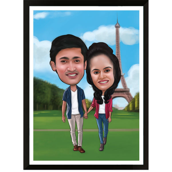 Caricature Anniversary Gift for Couple - Giftingnation
