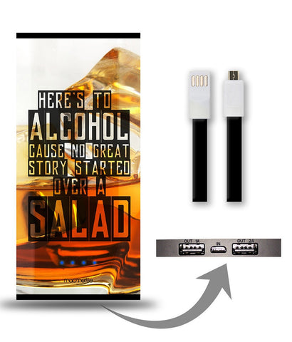 Alcohol Fact 8000 mAh Universal Power Bank - Giftingnation