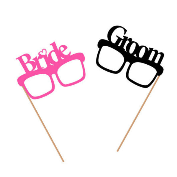 Bride and Groom Prop Glasses - Giftingnation