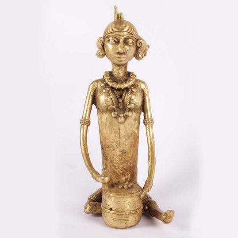 Bell Metal Chakiwali Showpiece - Giftingnation - 1
