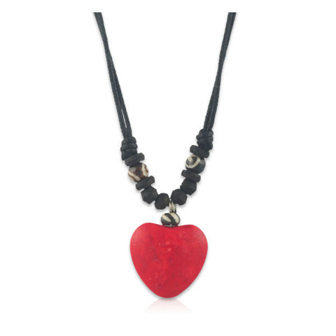 Modern Red Heart Pendant Necklace - Giftingnation - 1