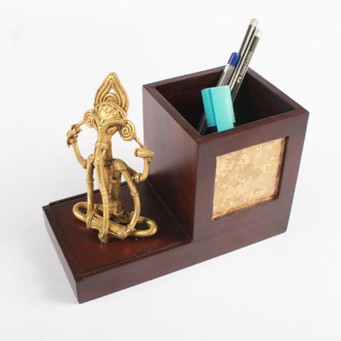 Bell Metal Ganapati Pen Stand - Giftingnation - 1