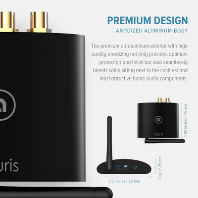 Auris bluMe HD Bluetooth 5.0 Music Receiver with Audiophile DAC and aptX HD