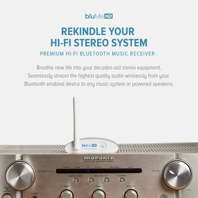 Auris bluMe HD Bluetooth 5 0 Music Receiver with Audiophile
