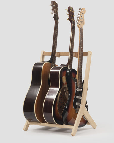 Wooden Multi Guitar Stand, Birch
