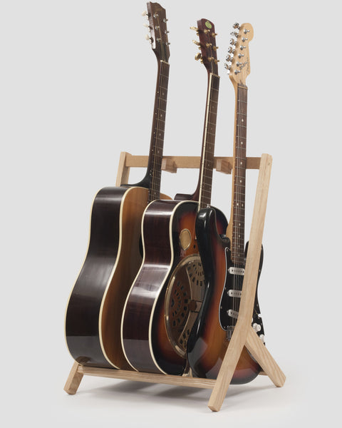 multi guitar stand made of ash by rafter stands. Black Bedroom Furniture Sets. Home Design Ideas