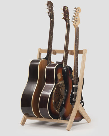 Wooden Multi Guitar Stand, Ash