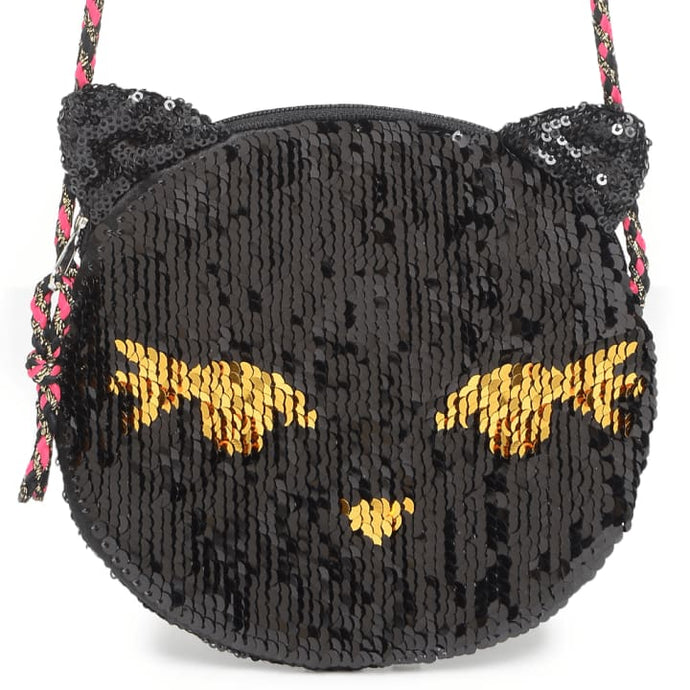 Sequined Flip Cat Bag - Nana Belle