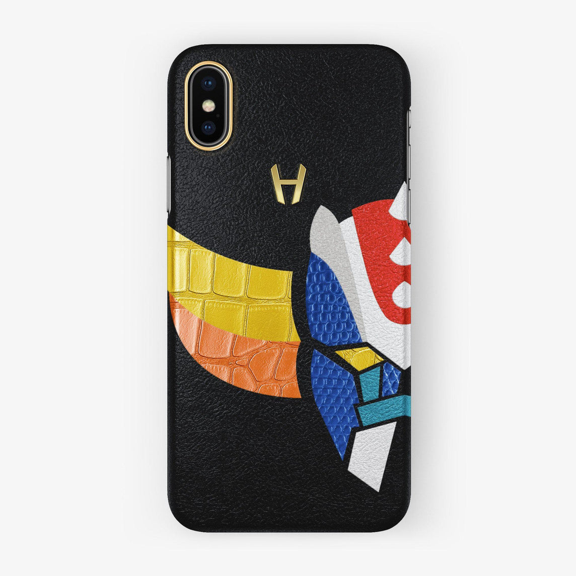 Hadoro Grendizer Alligator / Lizard / Calfskin iPhone X/Xs Case | Black Calfskin - Grendizer C1 Default