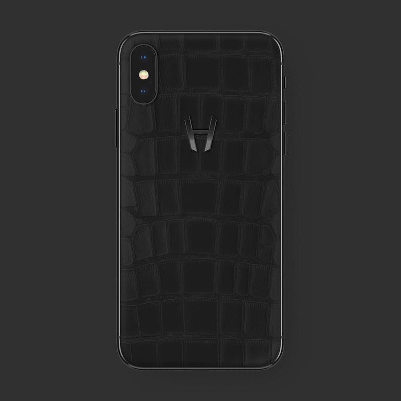 Hadoro iPhone Xs Phantom | Alligator | Finishing-Black with-phone