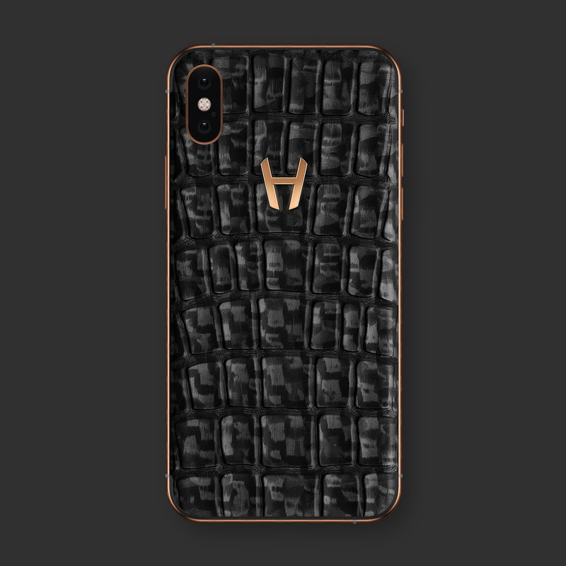 Hadoro iPhone Xs WA Carbon with-phone