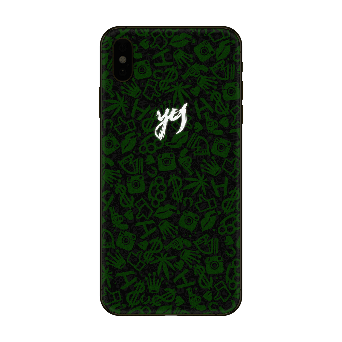 Hadoro iPhone Xs Max Green Frankly Yes