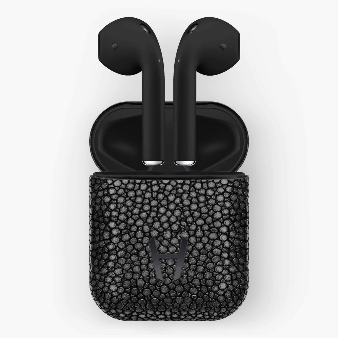 Hadoro Airpods Stingray with Charging case | Black - Black