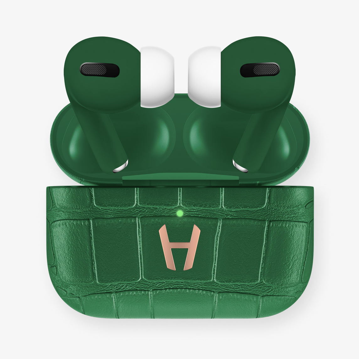 AirPods Pro Alligator AirPods Pro | Green Emerald - Rose Gold