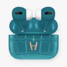 AirPods Pro Alligator AirPods Pro | Blue Teal - Rose Gold