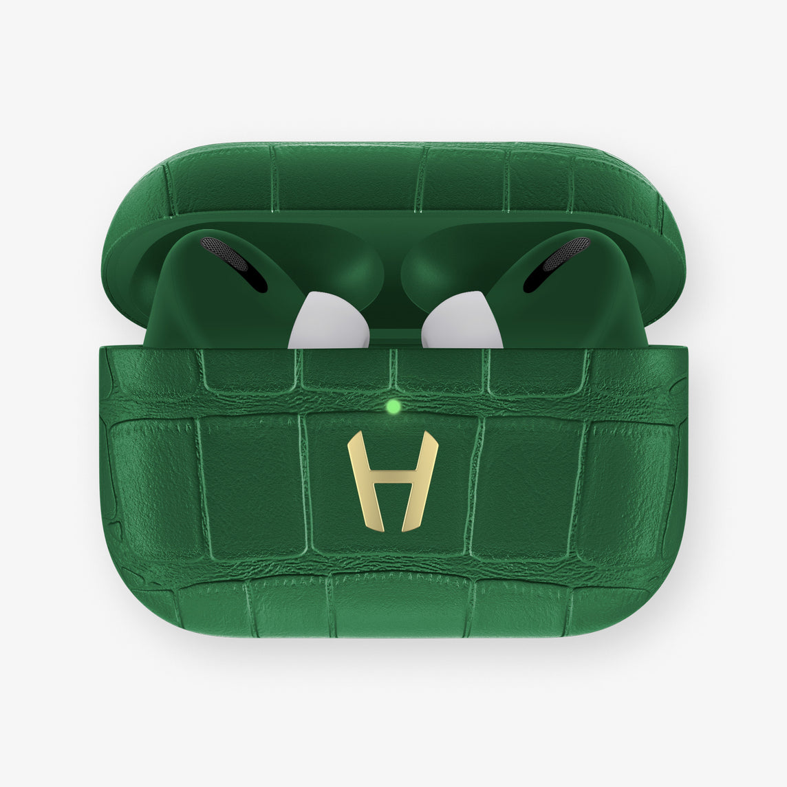 AirPods Pro Alligator AirPods Pro | Green Emerald - Yellow Gold