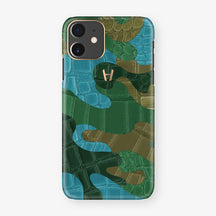 Alligator Case Camo iPhone 11 | Jungle - Rosr Gold