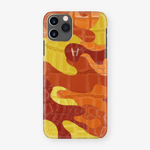 Alligator Case Camo iPhone 11 Pro | Volcano - Rose Gold