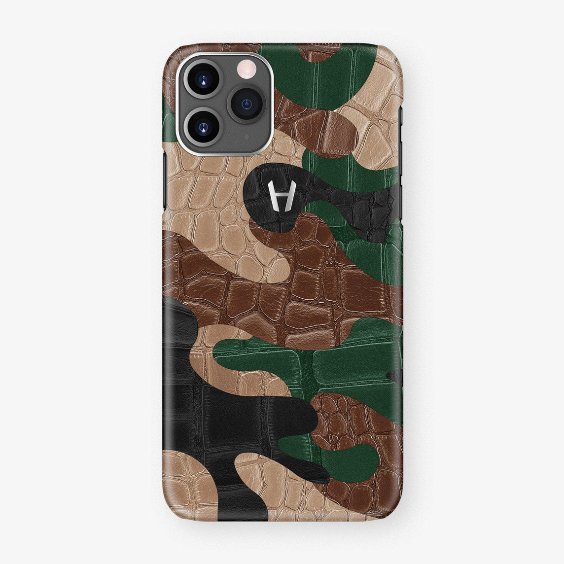 Alligator Case Camo iPhone 11 Pro | Woodland- Stainless Steel