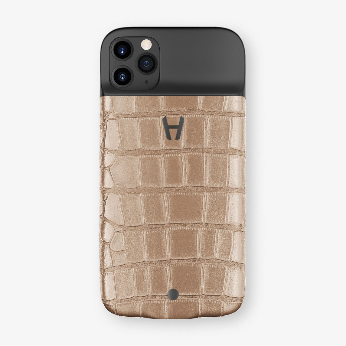 Alligator Battery Case iPhone 11 Pro | Latte - Black