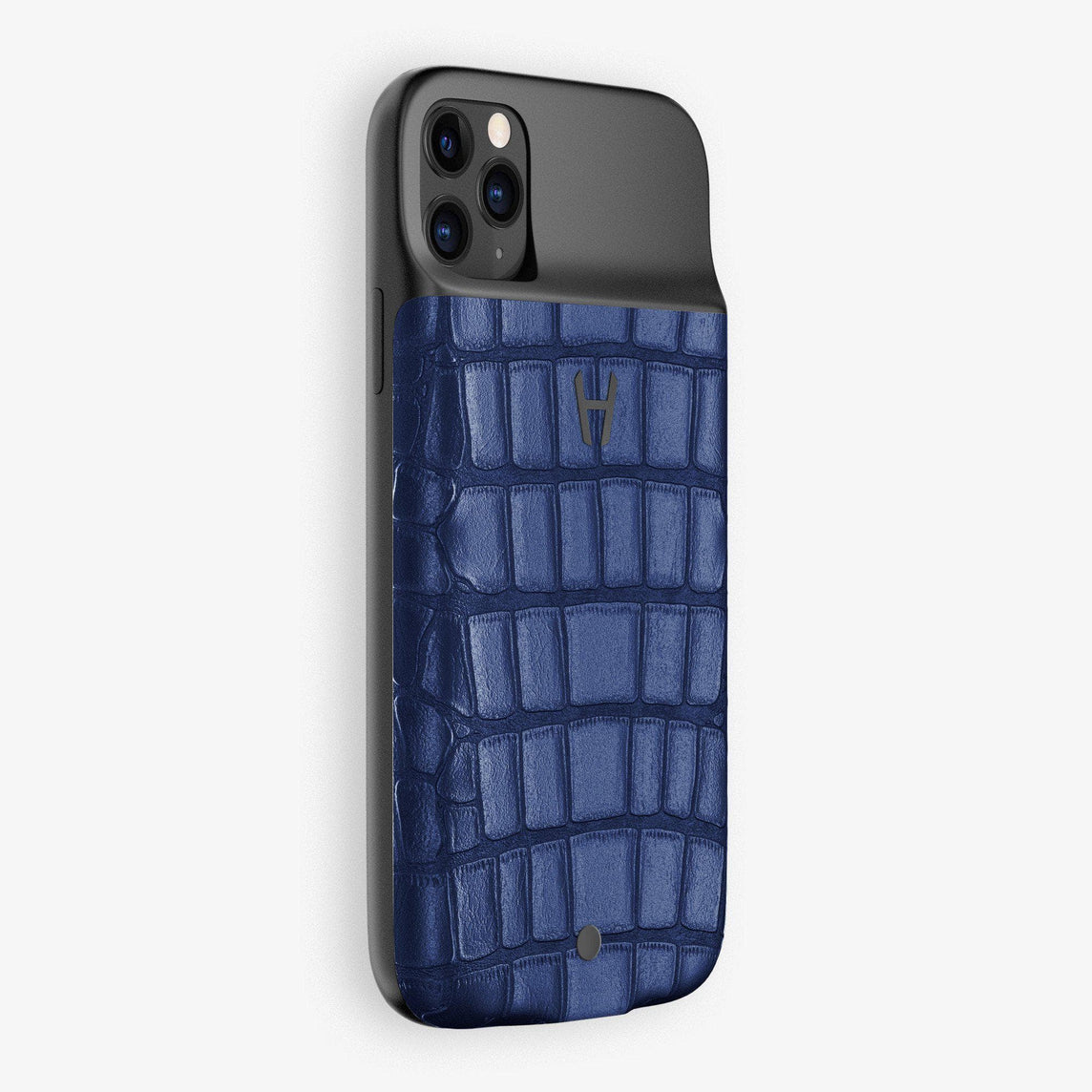 Alligator Battery Case iPhone 11 Pro | Navy Blue - Black