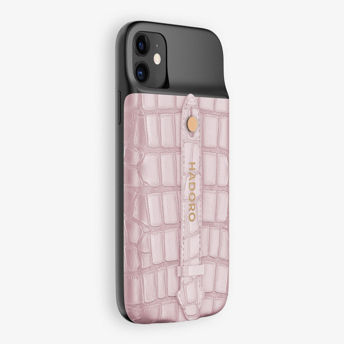 Alligator Battery Finger Case for iPhone 11 | Pink/Pink - Rose Gold