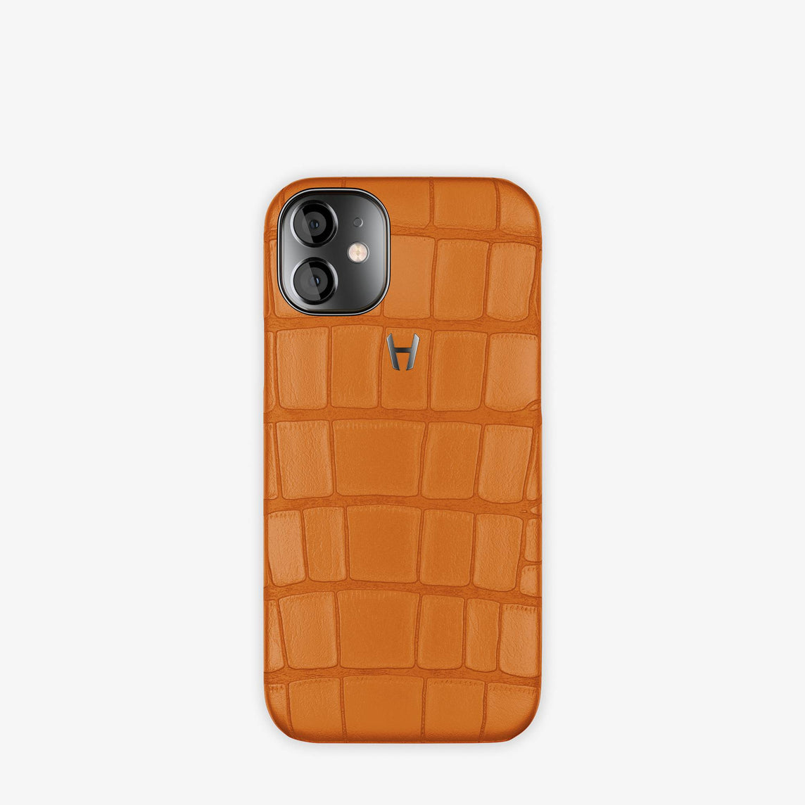 Alligator Case Apple iPhone 12 Mini | Orange - Black