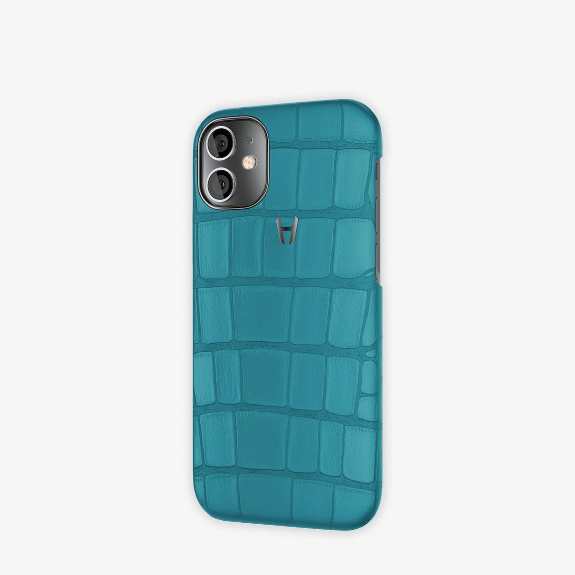 Alligator Case Apple iPhone 12 Mini | Teal - Black