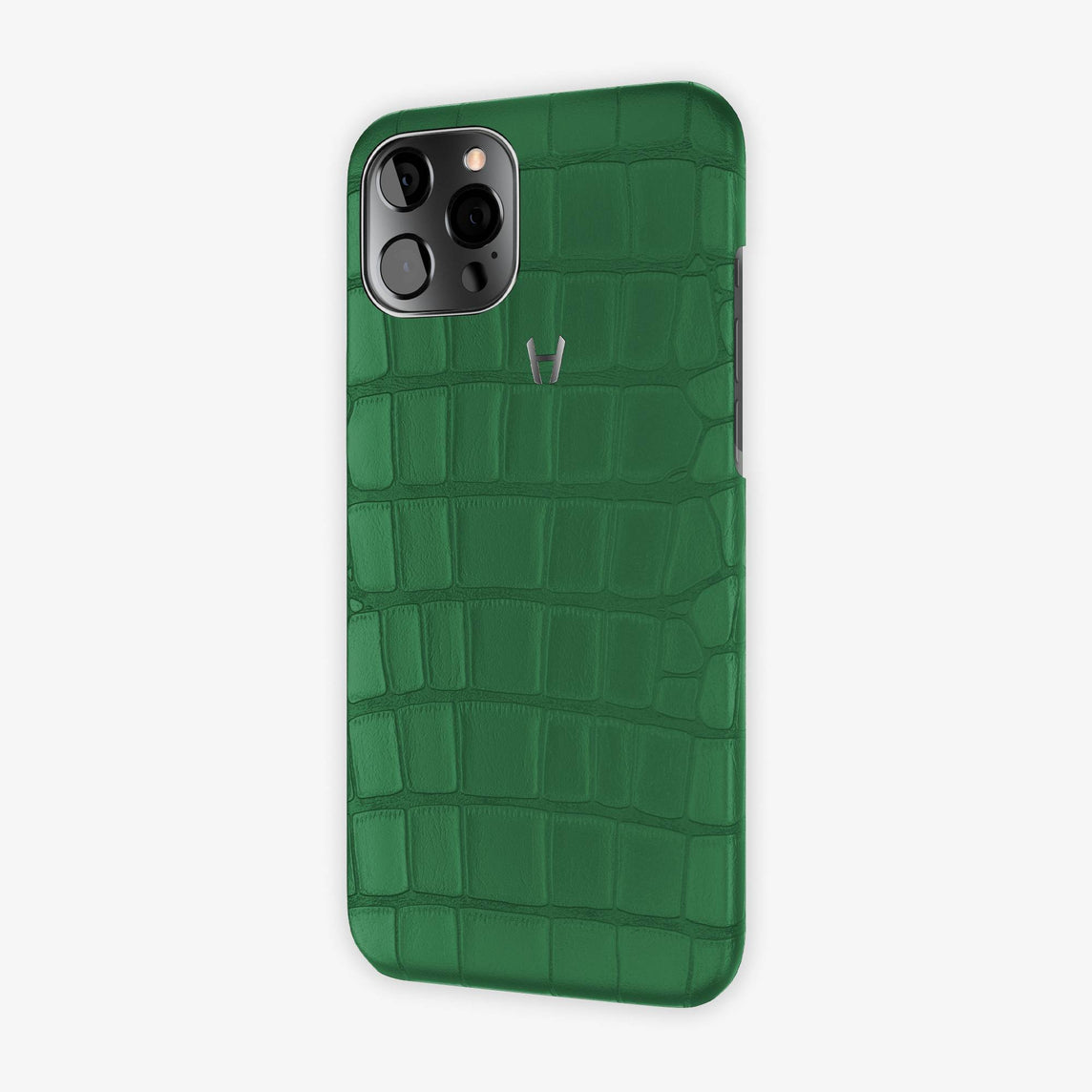 Alligator Case iPhone 12 Pro Max | Green Emerald - Black