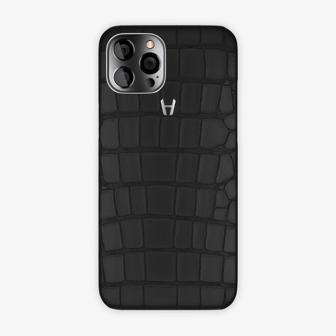 Alligator Case iPhone 12 Pro Max | Black - Stainless Steel