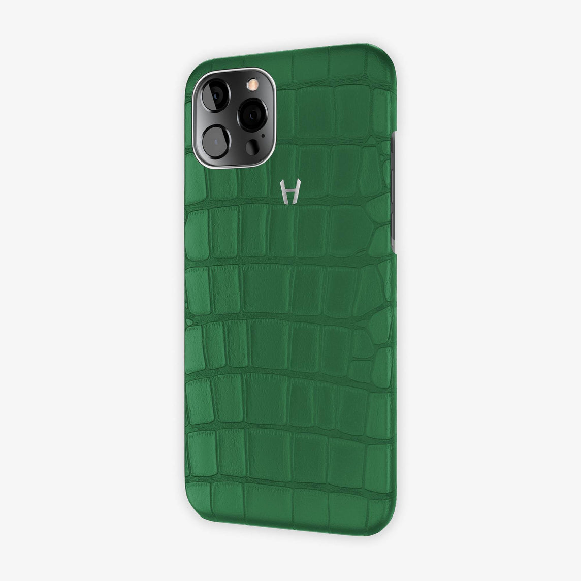 Alligator Case iPhone 12 Pro Max | Green Emerald - Stainless Steel – Hadoro  Paris