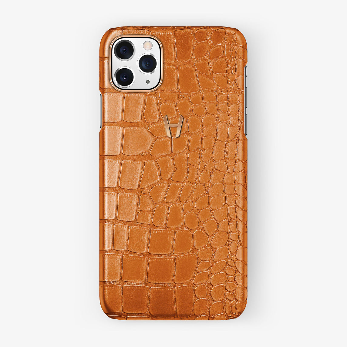 Alligator Case iPhone 11 Pro Max | Orange Apricot - Rose Gold