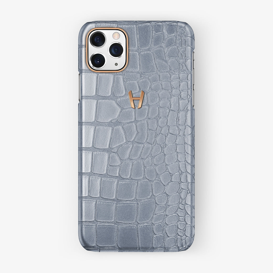 Alligator Case iPhone 11 Pro Max | Silver - Rose Gold