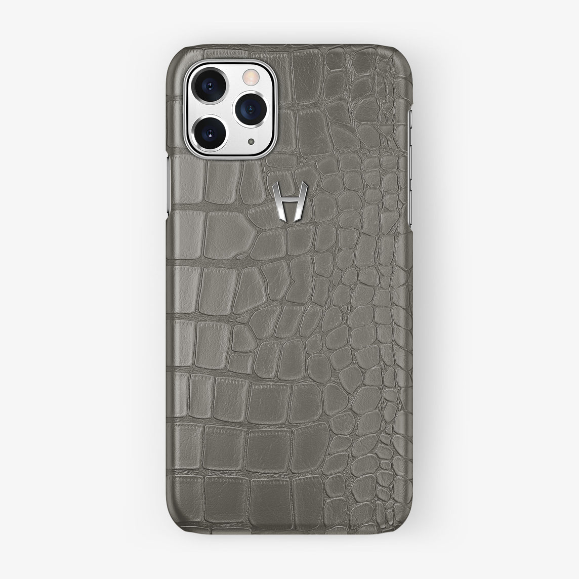 Alligator Case iPhone 11 Pro | Pearl Grey - Stainless Steel