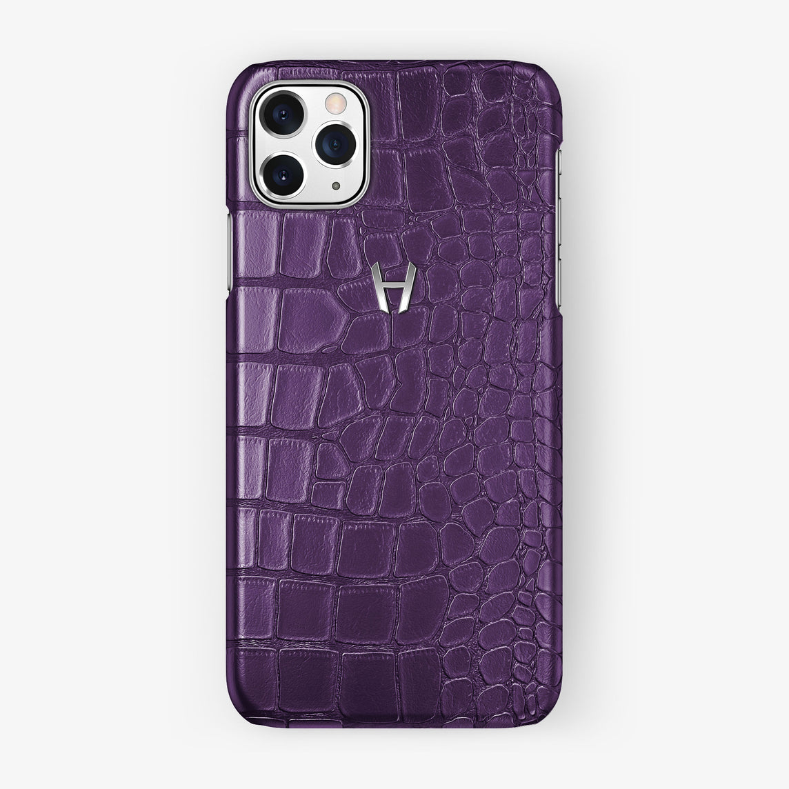 Alligator Case iPhone 11 Pro Max | Violet Purple - Stainless Steel