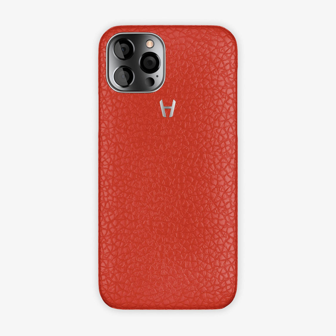 Calfskin Case Apple iPhone 12 Pro | Red - Stainless Steel
