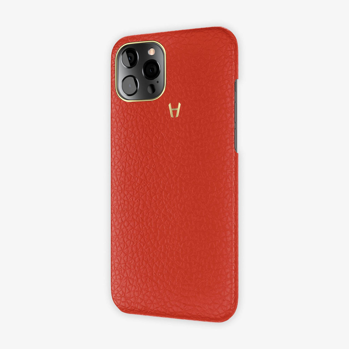 Calfskin Case Apple iPhone 12 Pro Max | Red - Yellow Gold