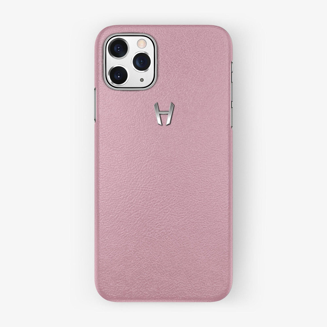 Calfskin Case iPhone 11 Pro | Pink - Stainless Steel
