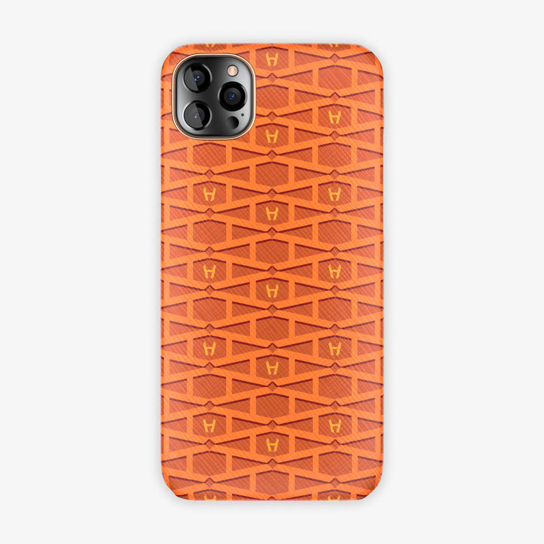 Monogram Case iPhone 12 Pro Max | Orange - Rose Gold