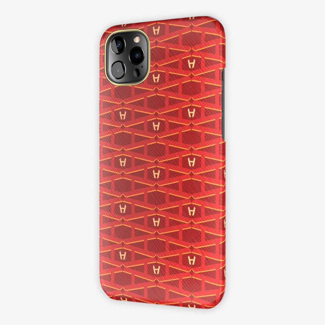 Monogram Case iPhone 12 Pro Max | Red - Yellow Gold