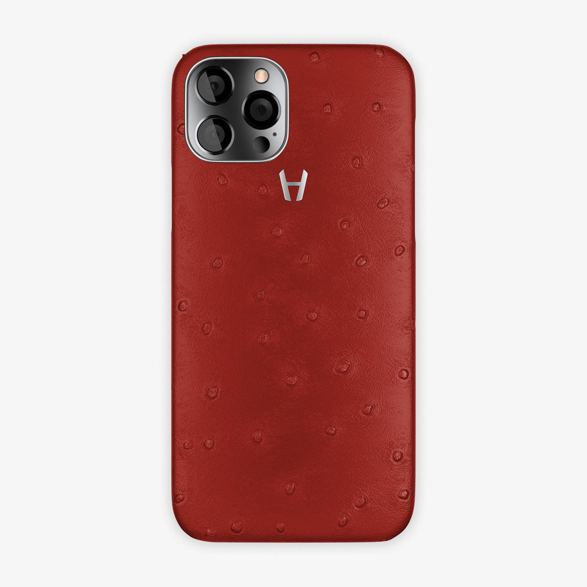 Ostrich Case iPhone 12 Pro | Red - Stainless Steel