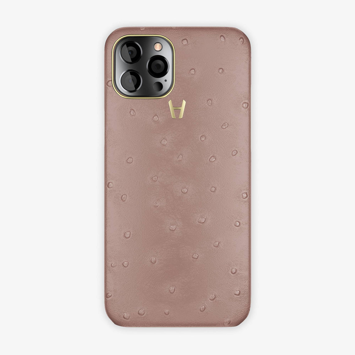 Ostrich Case iPhone 12 Pro Max | Lavande - Yellow Gold